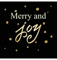 Merry Christmas Lettering greeting card vector image vector image