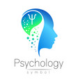 modern head sign of psychology profile human vector image vector image