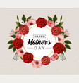 mothers day card with tropical flowers vector image