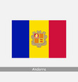 national flag andorra andorran country flag vector image