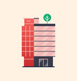 office building business center vector image
