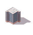 offices isometric architecture building facade vector image vector image