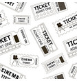 old cinema tickets pattern vector image vector image