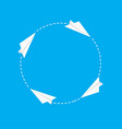 paper plane success and different concept idea vector image