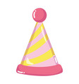 party hat lines decoration style vector image vector image