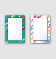 photo frames set with color border abstract figure vector image