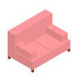 pink sofa isometric web vector image