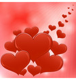 Red hearts Valentine day background vector image vector image