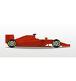 red racing bolid sports car quick transport vector image vector image