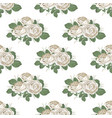 retro floral seamless pattern roses on white vector image vector image