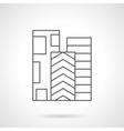 Rolls of linoleum flat line icon vector image vector image