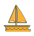 sailboat on water icon image vector image vector image