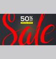 sale banner red handwriting text sale with vector image vector image