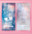 save the date we are getting married invitation vector image vector image