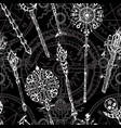 seamless pattern with magic wands vector image vector image