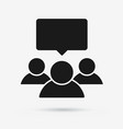 speaking group symbol of people chat flat icon vector image vector image