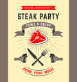 steak party vector image vector image