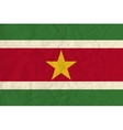 Surinam paper flag vector image vector image