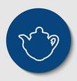 tea maker kitchen sign white contour icon vector image vector image