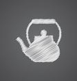 teapot sketch logo doodle icon vector image vector image