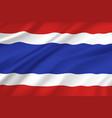 thailand flag wavy realistic 3d bangkok symbol vector image