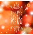 Thanksgiving menu - typographic element vector image