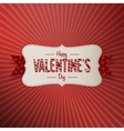 Valentines Day realistic Banner with Text vector image