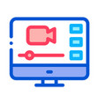 video player on screen icon outline vector image vector image