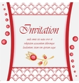 Vintage card with diamond jewelry decoration vector image vector image
