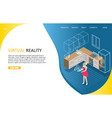 virtual reality landing page website vector image vector image