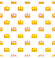 viscount crown pattern seamless vector image
