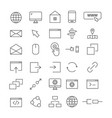top 30 web line icons vector image