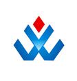 abstract shape construction logo vector image
