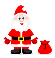 Happy Santa with gift vector image