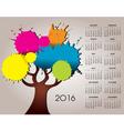 2016 splat tree calendar vector image vector image