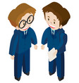 3d design for two businessmen vector image