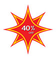 40 off discount price tag abstract price tag vector image vector image
