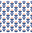 abstract geo dot pattern blue and white vector image vector image