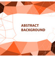 abstract orange geometric background with polygon vector image