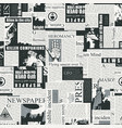 abstract seamless pattern on a newspaper theme vector image vector image