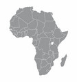 africa gray map vector image