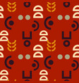 alien signs seamless pattern vector image