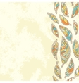 Background with tribal feathers vector image vector image