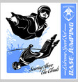 base-jumping - wingsuit flying sport set vector image vector image