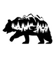 bear silhouette vector image vector image