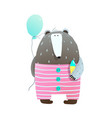 bear with ice cream and balloon vector image vector image