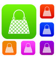 beautiful bag set color collection vector image vector image