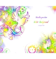 Birds abstract background vector image