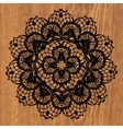 Black crochet doily vector image