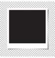 blank square photo with shadow vector image vector image